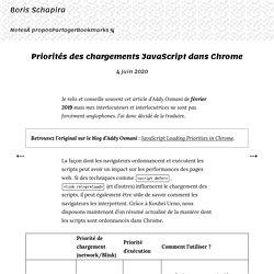 Priorités des chargements JavaScript dans Chrome · Boris Schapira