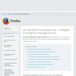 Les sites web ne se chargent pas – investiguer et corriger les messages d'erreur