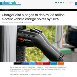 ChargePoint pledges to deploy 2.5 million electric vehicle charge points by 2025