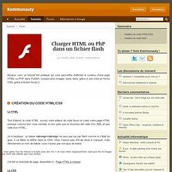 Charger HTML ou PhP dans un fichier flash
