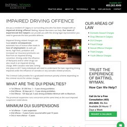Lawyer for DUI Charges in Calgary