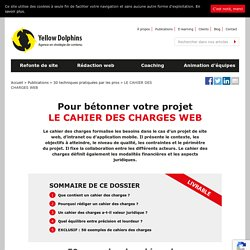 Le cahier des charges d'un site web : définition et exemple