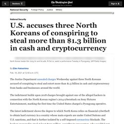 DOJ charges North Korean hackers with stealing $1.3 billion from banks