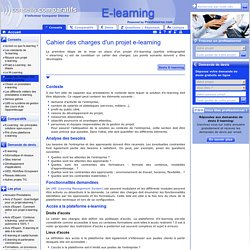 cahier des charges e learning - projet e-learning - contenu e-learning