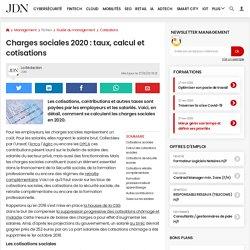 Charges sociales 2020: taux, calcul et cotisations