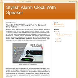 Stylish Alarm Clock With Speaker: Alarm Clock With USB Charging Ports For Consistent Sleep Patterns