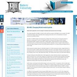 Charging Nickel-Metal-Hydride Batteries