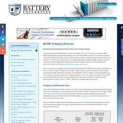 Charging Lithium-Ion Batteries
