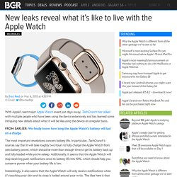 Apple Watch charging time, notifications revealed in new report