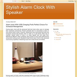 Stylish Alarm Clock With Speaker: Alarm clock With USB Charging Ports Perfect Choice For Schedule Management
