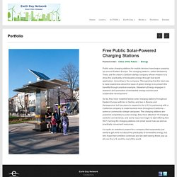 Free Public Solar-Powered Charging Stations - Green Cities Campaign