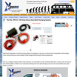 140 Amp Heavy Duty Split Charging System, VW T4 T5 xtreme van - for all your xtremevan conversion needs