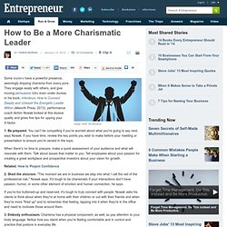 How to Be a More Charismatic Leader
