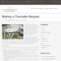 Making a Charitable Bequest - Los Angeles Lawyer and Law Firm