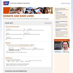 Charitable Contribution to the American Cancer Society | Donate
