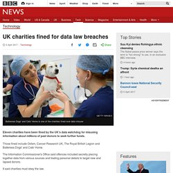 UK charities fined for data law breaches