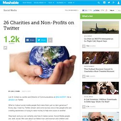 26 Charities and Non-Profits on Twitter