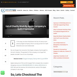 List of Charity Work By Apple Company is Quite Impressive