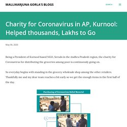 Charity for Coronavirus in AP, Kurnool: Helped thousands, Lakhs to Go