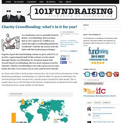 Charity Crowdfunding: what's in it for you?