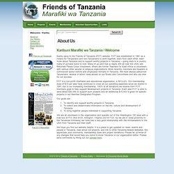 charity: Friends of Tanzania (FOT)- About Us, Welcome