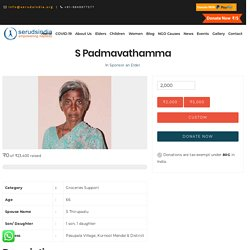 Charity For Genuine Needy People at Old Age Homes in Andhra Pradesh