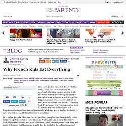 Charity Curley Mathews: Why French Kids Eat Everything