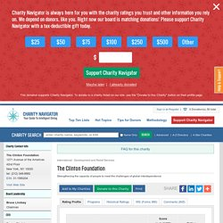 Charity Navigator - Rating for The Clinton Foundation