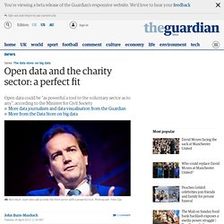 Open data and the charity sector: a perfect fit