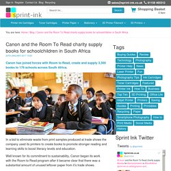 Canon and the Room To Read charity supply books for schoolchildren in South Africa