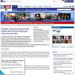 Charleroi: des jeunes déposent des tirelires dans les commerces pour nourrir les sans-abris