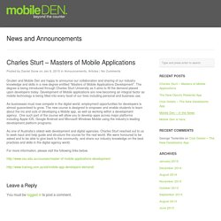Masters of Mobile Applications Degree - MobileDEN