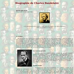 Charles Baudelaire - Biographie