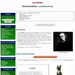 Les Chats - Charles Baudelaire - Commentaire