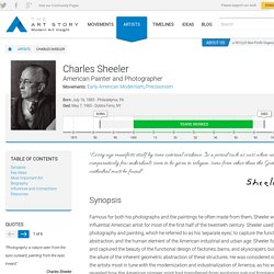 Charles Sheeler Biography, Art, and Analysis of Works