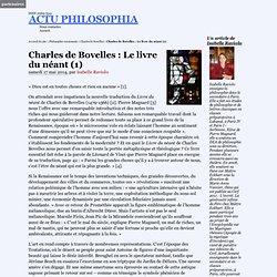 Charles de Bovelles : Le livre du néant (1)