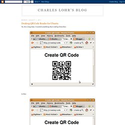 Desktop QR Code Reader for Ubuntu