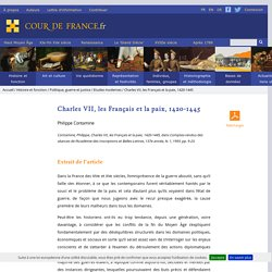 Charles VII, les Français et la paix, 1420-1445