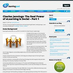 Charles Jennings: The Real Power of eLearning is Social – Part 1