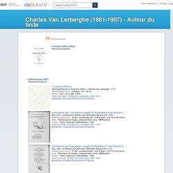 Charles Van Lerberghe (1861-1907)