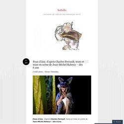 Peau d'âne, d'après Charles Perrault, texte et mise en scène de Jean-Michel Rabeux – dès 6 ans
