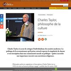 Charles Taylor, philosophe de la culture
