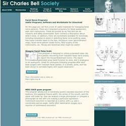 Sir Charles Bell Society - Useful Facail Nerve Programs to Download