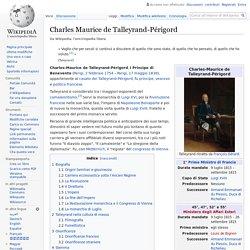 Francia - Charles Maurice de Talleyrand-Périgord