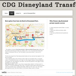 Charles de gaulle Cdg airport transfers to disneyland paris - blog