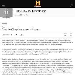 Charlie Chaplin's assets frozen - Jan 11, 1927