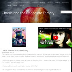 Charlie and the chocolate factory - Kimstudies