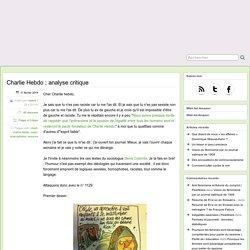 Charlie Hebdo ; analyse critique