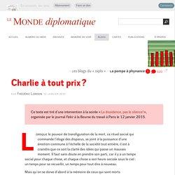 Frédéric Lordon : Charlie à tout prix