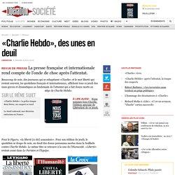 «Charlie Hebdo», des unes en deuil